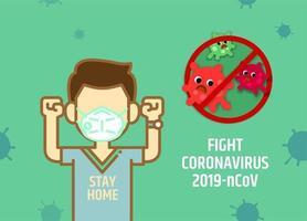 homme combattant le coronavirus