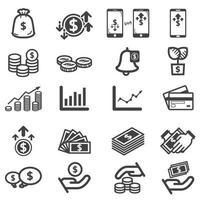 jeu d'icônes d'investissement