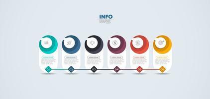 infographie d'entreprise de flux de travail vecteur