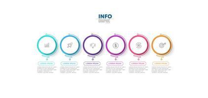 infographie d'affaires coloré rond