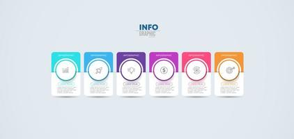 infographie d'entreprise coloré vecteur
