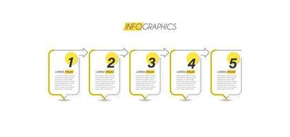 infographie d'entreprise minimaliste jaune