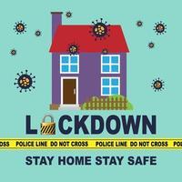 rester à la maison rester en sécurité. vecteur