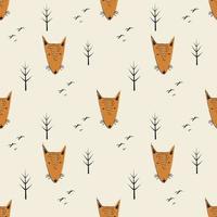 fond de dessin animé drôle de renard vecteur
