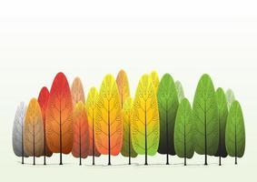 fond de forêt d'arbres colorés vecteur
