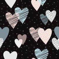fond de coeur forme amour mignon vecteur