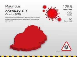 maurice touché la carte du pays du coronavirus