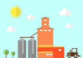 Contexte agricole vecteur