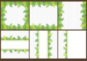 Vecteurs de feuilles vecteur