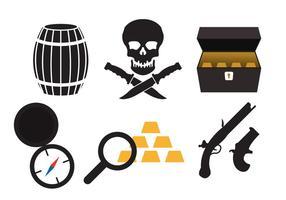 Icônes de pirate vecteur