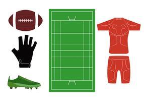 Icônes de rugby vecteur