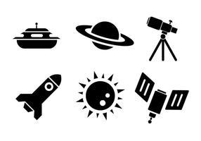 Icônes vectorielles spatiales vecteur