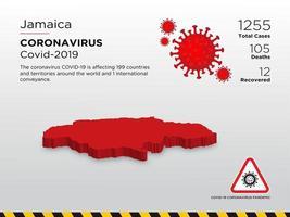 la Jamaïque a touché la carte du coronavirus