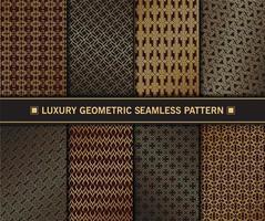 ensemble de motifs géométriques sans soudure de luxe doré vecteur