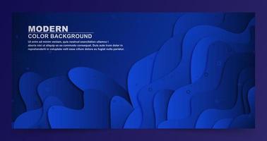 forme abstraite fond bleu en couches