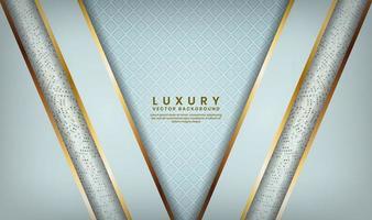 motif bleu avec des couches doublées d'or en forme de v