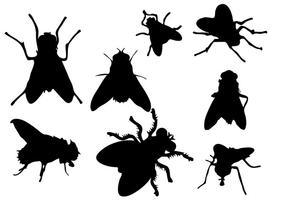 Vecteur de silhouette de mouche libre