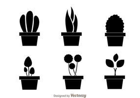 Vecteurs de planter noir vecteur