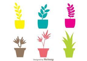 Vecteurs de planter colorés