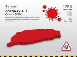 taiwan touché une carte du coronavirus vecteur