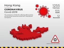 Carte du pays touché par le coronavirus à Hong Kong vecteur