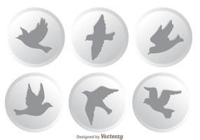 Icônes d'oiseaux volants vecteurs vecteur