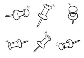 Scribble thumb tack vetores vecteur