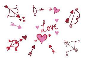 Série de vecteurs d'arc Cupidon gratuits