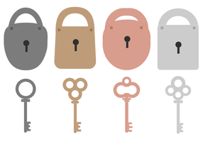 Vecteur de clé et de verrouillage gratuit