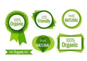 Étiquettes écologiques vecteur