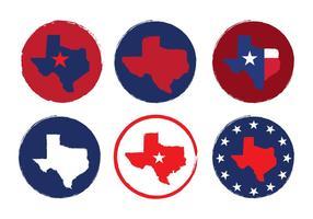 Vecteurs de carte du Texas vecteur