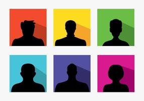 Ensemble d'avatars par défaut colorés