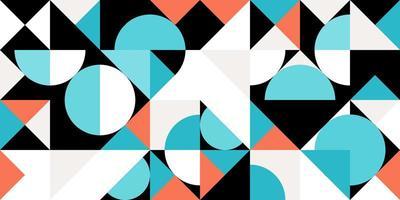 Abstrait géométrique rose et bleu pastel