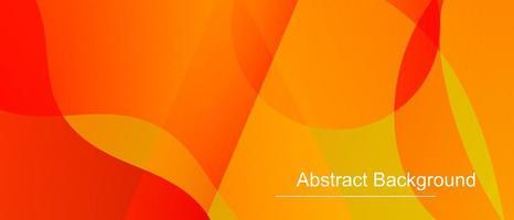 formes dynamiques abstraites orange, rouge et jaune vecteur