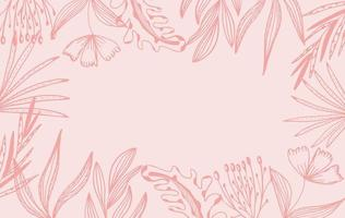 fond de cadre floral rose vecteur