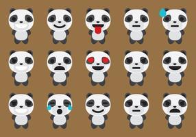 Panda emoticon vectors