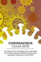 description du coronavirus dans un grand élément viral