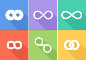 Logos vectoriels gratuits en boucle infinie vecteur