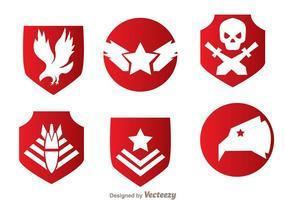 Vecteurs militaires d'emblème rouge vecteur