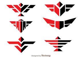 Logo symétrique du faucon logo vecteur