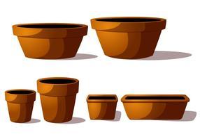 Vecteurs de pot de terre cuite vecteur