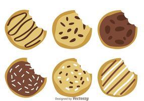 Des vecteurs de cookies délicieux vecteur