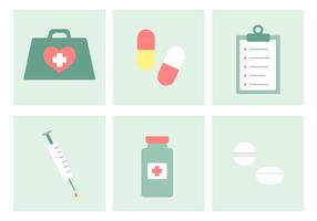 Vecteur de kit médical gratuit