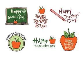 Série de vecteurs gratuits de la journée des enseignants