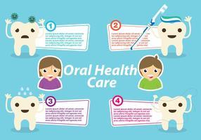Vector de modèle de santé bucco-dentaire