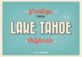 Illustration de salutation de style rétro du lac Tahoe vecteur