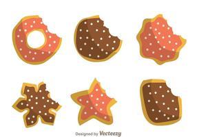 Cookies de morsure vecteur