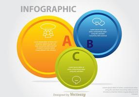 Boutons de cercle Venn Diagram vecteur