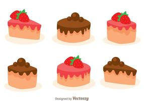 Stawberry and Choco Cake Slice vecteur