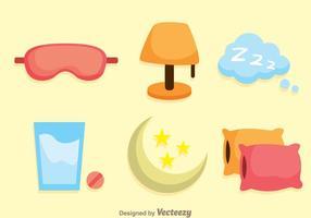 Dormir des icônes plates vecteur